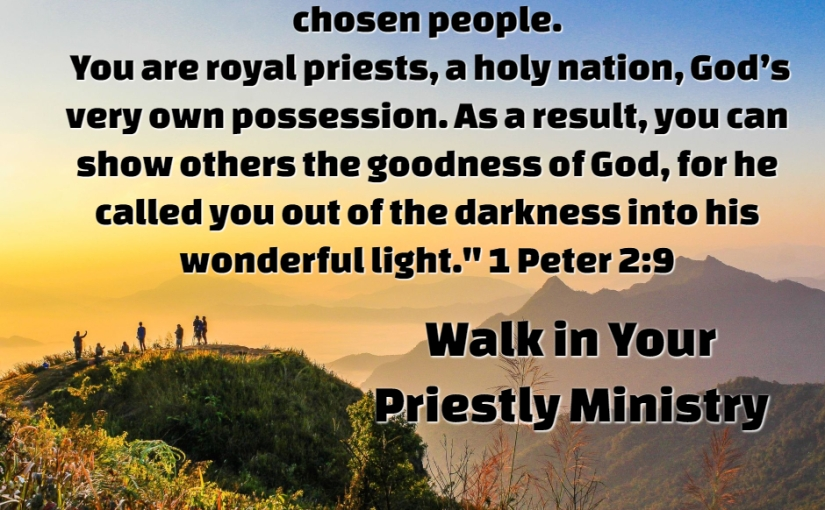 Walking in Your Priestly Ministry Even If It Feels Small
